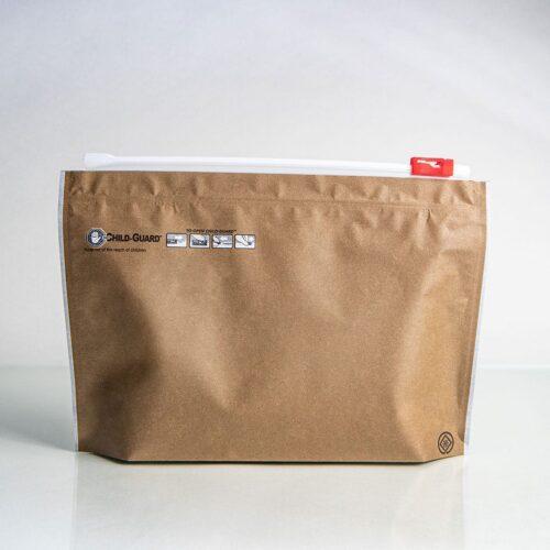 medium kraft child resistant cannabis exit bag