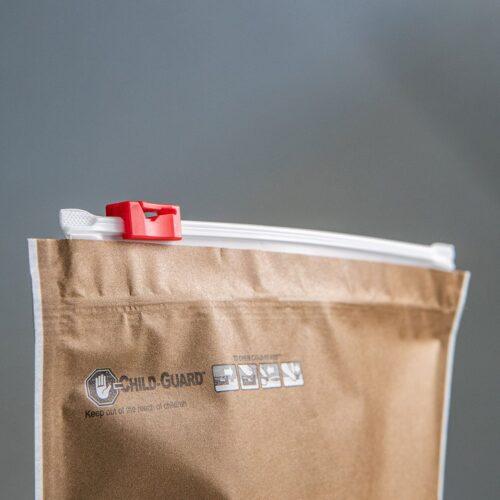 kraft dispensary exit packaging child-resistant zipper